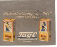 1916 Entier Postal Privé. 10c Tell. Teigwarenfabrik Luzern. Illustrée Blé, Paysan, Femme, Pâtes Aux Oeufs. Eiernudeln - Entiers Postaux
