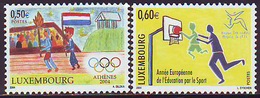 Luxemburgo 2004  Yvert Tellier Nº  1592/93 ** Atenas'04 Y Educacion Para El Dep - Nuevos