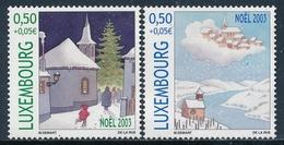Luxemburgo 2003  Yvert Tellier Nº  1570/71 ** Navidad (2v) - Neufs