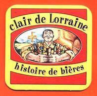 Sous Bock - Coaster Bière Clair De Lorraine Histoire De Bières Brasserie à Void Vacon Meuse - Sous-bocks