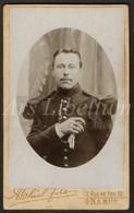 Photo-carte De Visite / CDV / Homme / Man / Militaire / Soldat / Soldier / Photographer Eugene Guerin / Bruxelles - Oud (voor 1900)