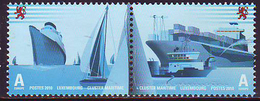 """Luxemburgo 2010  Yvert Tellier Nº  1837/38 ** Barcos Y Navegación- Se Tenant """"A - Nuevos"""