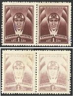 ERORRS RECTO / VERSO--ABKLATSCH--ROMANIA ,, TIMBRUL AVIATIEI '' 1932 Extremely Rare In Pairs --SUPERB--MNH - Variedades Y Curiosidades