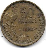 50 Fr Guiraud 1954 - France