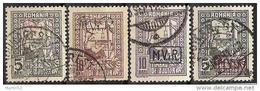 Militärverwaltung In Rumänien MViR 1917: Michel-No.Steuer 1+2+4+5 Mit O (Michel € 23.00) - Occupation 1914-18