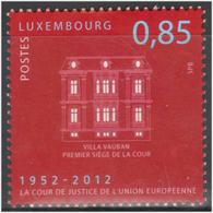 Luxemburgo 2012  Yvert Tellier Nº  1899 ** 60A Cortes Europeas De Justicia - Nuevos