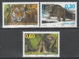 Luxemburgo 2013  Yvert Tellier Nº  1922/24 ** Fauna: Sepac Y Felinos (3v) - Nuevos