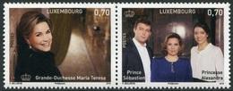Luxemburgo 2016  Yvert Tellier Nº  2023/24 ** 60A Gran Duquesa Maria Teresa (2v - Lussemburgo