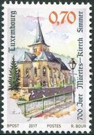 "Luxemburgo 2017  Yvert Tellier Nº  2081 ** 700 Años De La Iglesia De ""Simmer"" - Luxemburgo"