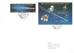 Guinea Bissau 1986 Bissau Halley's Comet Michel 897 898 913 FDC Cover - Guinée-Bissau