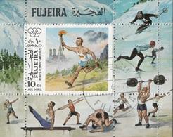 Fujeira 1972 Bf. 112A Monaco Olimpiadi Tedoforo Sheet Perf. CTO  Olympic Games - Fujeira