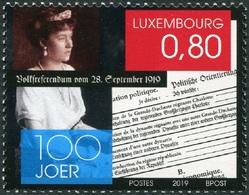 Luxemburgo 2019  Yvert Tellier Nº  Z1911 ** 100 Aniv. Referendum De 1919 - Lussemburgo