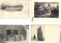 3 CPA + 1 Carte / 80 PERONNE Vue Générale, Historial Grande Guerre, Tombeau Du Marin Delpasse, Pierre De Doingt - Peronne