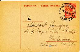 Yugoslavia Carte Postale Postal Stationery Sent To USA Beograd 18-6-1956 - 1945-1992 Socialist Federal Republic Of Yugoslavia