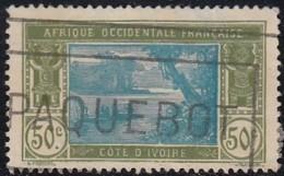 Côte D'Ivoire 1913-1944 - Marque Paquebot Sur N° 69 (YT) N° 75 (AM). - Côte-d'Ivoire (1892-1944)