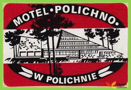 Voyo MOTEL  POLICHNO  Polichno Poland Hotel Label  Sticker 1990s Vintage White/Red - Hotel Labels