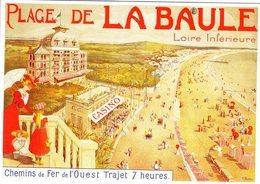 Chemin De Fer De L'Ouest. -  Plage De La Baule  - Publicité  -  Artiste: V.Morin  -  Ed.Clouet CPM - Chemins De Fer
