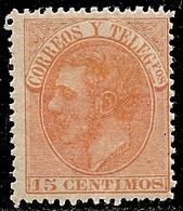 1882-ED. 210 ALFONSO XII 15 CTS NARANJA - NUEVO SIN FIJASELLOS MNH- - Ungebraucht