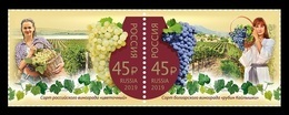 Russia 2019 Mih. 2714/15 Winemaking (joint Issue Russia-Bulgaria) MNH ** - Unused Stamps