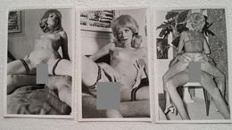 3 Pcs Vintage Gelatinsilver Erotic Photos  - Pärchen / Couple Repro From The 1960s  8 Cm X 12 Cm - Beauté Féminine (1941-1960)