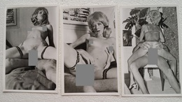 3 Pcs Vintage Gelatinsilver Erotic Photos  - Pärchen / Couple Repro From The 1960s  8 Cm X 12 Cm - Bellezza Femminile Di Una Volta < 1941-1960