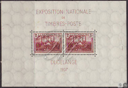 Luxemburgo 1937  ** / MNH - Yvert Tellier   Hojas Bloque 2 Exposición Filatélic - Blocs & Feuillets