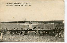 1704. CPA 16 CAPITAINE BORDAGE ET SON BIPLAN ATTERRI A ROUILLAC LE 19 JUILLET 1913. DATEE 1914 - Rouillac