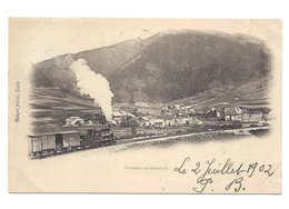 SOUVENIR DE SONCEBOZ. Train. Locomotive à Vapeur. Zug. Circulée Cachet Ambulant 1902. Belle Qualité.Railway. Bahn. - BE Berne