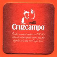 Sous Bock - Coaster Bière Cruzcampo 1904 Bière Brasserie En Espagne - Beer Mats