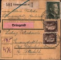 ! 1943 Paketkarte Deutsches Reich, Litzmannstadt Nach Gräfenhainichen, Lager - Germania