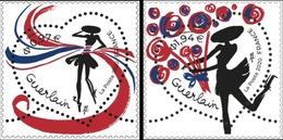 France 2020 Saint Valentin Cœurs Guerlain 2V MNH / Neuf** - France