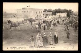 ALGERIE - SAHARA - OUARGLA - FANTASIA SUR LA PLACE DU BUREAU ARABE - EDITEUR GEISER - Ouargla