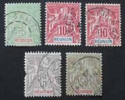 REUNION 1900 # 46-47-48-50 - Oblitérés
