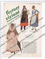 1933 - COSTUMI - FOBELLO BRIANZA CREMA AOSTA VAL GARDENA GENOVA SARZANA FORLI ANCONA ROMA COSENZA CAMPOBASSO - Immagine Tagliata