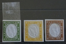 Regno D'Italia 3Valori Effigie V.EmanueleII  MH*/MNH**(28074 - Nuevos