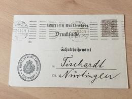 K8 Württemberg Ganzsache Stationery Entier Postal DPB 51 Von Stuttgart - Wurtemberg