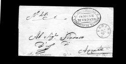 CG1 - Vedano - Doppio Cerchio Sardo Ital. In Azzurro + Bollo Comune -  Lettera Per Azzate 5/3/1862 - 1. ...-1850 Prefilatelia