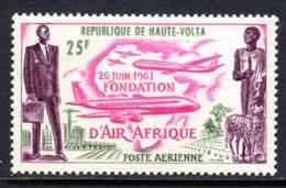 UPPER VOLTA - 1962 AIR AFRIQUE AIRPLANE 25F STAMP FINE MNH ** SG 95 - Upper Volta (1958-1984)