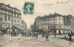 75013 - TOUT PARIS - Place Et Rue Nationale - Belle Animation 1908 - Distrito: 13