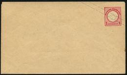 DT.REICH 1872, GS U 3 IA, 1 Kr. GRAUER AUFDRUCK, UNGEBRAUCHT-ORIGINAL - Interi Postali