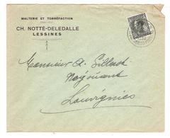 """Courrier 1936 Cachet """"Lessines - Ses Carrières De Porphyre"""" - Marcophilie"""