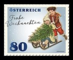 Austria 2019 Mih. 3498 Christmas (V). Children With Sledge MNH ** - 1945-.... 2ème République