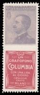 FRANCOBOLLO PUBBLICITARIO - 50 C. Violetto E Rosso COLUMBIA - 1925 - 1900-44 Victor Emmanuel III