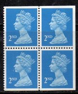 APR697 - GRAN BRETAGNA 1989, Machine 2nd Azzurro Vivo Quartina ***  MNH  (2380A). - Nuovi