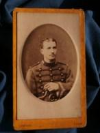 Photo CDV Lenfant à Lille - Militaire Musicien Du 1e D'artillerie Ou Du Train,  Circa 1885 L483 - Fotos