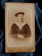 Photo CDV Boboli à Toulon - Portrait Matelot, Marine De Guerre, Circa 1890 L483 - Ancianas (antes De 1900)