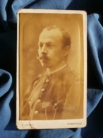 Photo CDV Sogno à Albertville - Portrait Militaire (officier ?) Du Génie L483 - Old (before 1900)