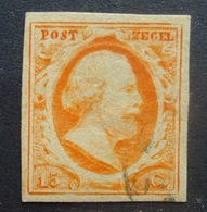 NEDERLAND  1852    Nr. 3    Goed  Gerand      CW  170,00 - Period 1852-1890 (Willem III)
