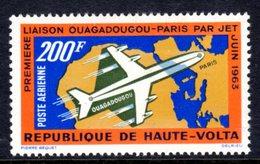 UPPER VOLTA - 1963 JET AIRPLANE DOUGLAS DC-8 200F STAMP FINE MNH ** SG 133 - Upper Volta (1958-1984)