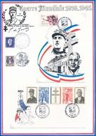 FRANCE - CARTE + ENVELOPPE 40EME ANNIVERSAIRE DEBARQUEMENT 6 JUIN 1989 ASNELLES - Guerre Mondiale (Seconde)